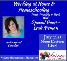 Do you need some encouragement as a work-at-home-mom? Come listen to our free radio show! #hsradionetwork