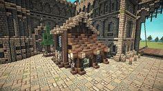 Minecraft Medieval, Minecraft Designs, Minecraft Creations, Minecraft Pixel Art, Minecraft Projects, Medieval Castle, Minecraft Ideas, Art Academy, Large Homes