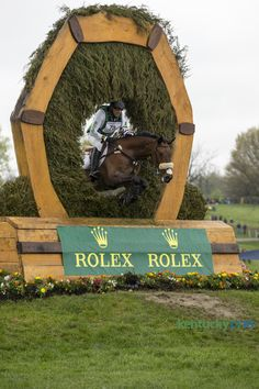 William Levett aboard Improvise cleared the keyhole at the Rolex Kentucky Three-Day Event held at the Kentucky Horse Park, Lexington, Ky. on April 25, 2015. Photo by Mark Mahan HERALD-LEADER