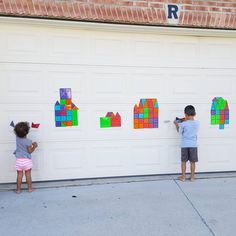 Building with #magnatiles on the garage! By Magna-Tects @growinupcreativ