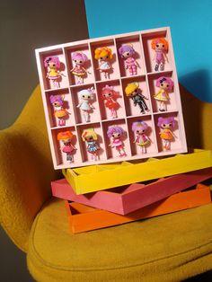 Mini Lalaloopsy Storage Shelf SALE by PeppermintPiglets on Etsy
