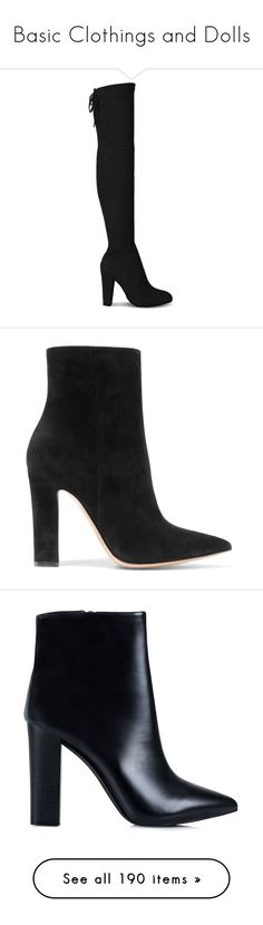 """Basic Clothings and Dolls"" by federica-m ❤ liked on Polyvore featuring shoes, boots, yoins, heels, black, over the knee heel boots, black suede boots, black suede over the knee boots, over-the-knee high-heel boots and suede over the knee high heel boots"