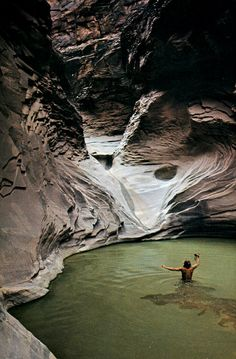 Natural Pool - Wow!!  Love how you can see the swimmer's movement in the water.