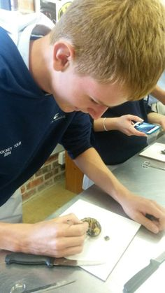 Grade 10 Life Sciences pupils took a closer look at some mussels during a dissecting exercise.