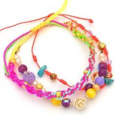 Pulsera Hilos Multicolor   www.dulceencanto.com