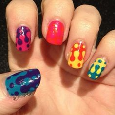 Lava Lamps Nails Work Outs To Suit Colorful