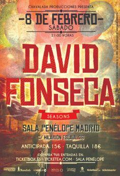 Entradas para David Fonseca en Madrid el 8 de febrero 2014 en notikumi