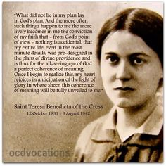 "October 1891 Edith Stein was born in Breslau"" (St. Teresa Benedicta of the Cross) Catholic Quotes, Catholic Prayers, Catholic Saints, St Edith Stein, Cross Quotes, October Quotes, Pictures Of Mary, Sisters In Christ, Saint Quotes"