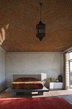 Casa San Miguel de Allende. The brick ceiling reminds me of the Basilica di Santa Maria del Fiore.