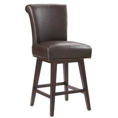 Enrich your living space with class and luxury with the Hamlet swivel counter stool. This sleek stool has a transitional style that people covet.