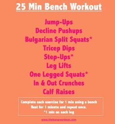 Killer workout to do at the gym with a bench