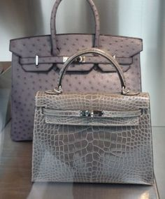 d54ad13cc24 Hermes window display in Paris, grey Birkin   Kelly - I LOVE my 2 Birkins!