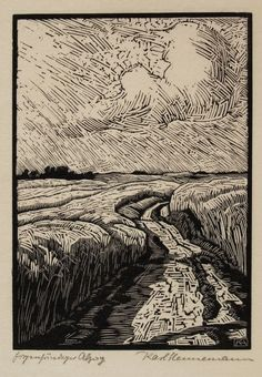 Multiple layers, white as a thing instead of negative space.Karl Hennemann (1884-1972) print