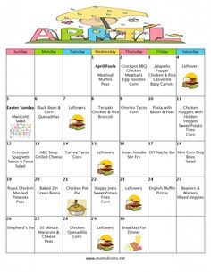 FREE Printable Meal Plan & Grocery List with Recipes - April 2015 Meal Plan | 30 Days of Dinners for $151 – A Month Of Meals On A Budget #monthofmeals #mealplanmonday #april #spring #menu #mealplan #whatsfordinner #budgetmenu #kidfriendlymenu
