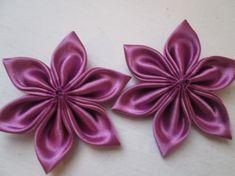 Radiant Orchid Kanzashi Flowers, DIY Wedding Flower Supplies, DIY Bridal Flowers for Jewelry, Scrapbook, Headband, Fascinator, Necklace