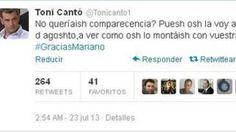 Toni Cantó se mofó de la dicción de Mariano Rajoy; más tarde tuvo que pedir disculpas.