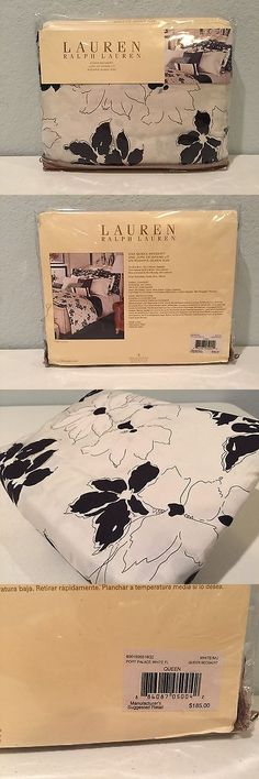 Bed Skirts 20450: Ralph Lauren Port Palace Floral Queen Bedskirt Skirt Dust Ruffle Black White -> BUY IT NOW ONLY: $71.99 on eBay!