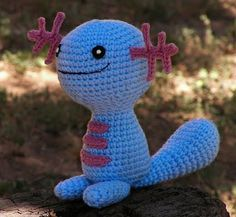 Wooper Plushie by Wolfdreamer.  Incredible free Pokemon, Mario, etc amigurumi patterns.