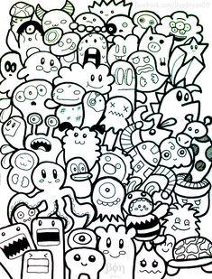 Doodle Monster Wallpaper Cute doodle monsters by bon09