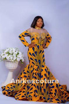 Colored Wedding Dresses, Wedding Party Dresses, Prom Dresses, African Wedding Dress, African Dress, Dashiki Prom Dress, Long Mermaid Dress, White Bridal, Traditional Dresses
