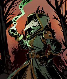 """deviantart: """"Darkest Dungeon Plague doctor"""" by. - The Department of Psychic War Veteran Affairs Character Concept, Character Art, Concept Art, Character Design, Steampunk Accessoires, Style Steampunk, Darkest Dungeon, Plague Doctor, Monster Art"""