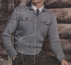 Vintage Knitting Pattern Instructions to Make a Mens Jumper Sweater