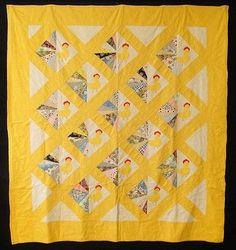 antiques chickens | Antique 1950 Fancy Chickens Quilt