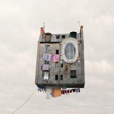 Flying Houses - Le linge qui sèche