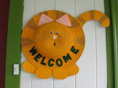 A Home in the Country: Craft Project: Straw Hat Makeover. Black Cat for Halloween??
