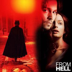 From Hell (2001). In Victorian Era London, a troubled clairvoyant police detective investigates the murders by Jack The Ripper.  Starring Johnny Depp, Heather Graham, Robbie Coltrane and Ian Holm.