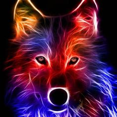 Images Roi Lion, Wolf Background, Abstract Wolf, Galaxy Wolf, Neon Licht, Wolf Artwork, Wolf Wallpaper, Wolf Pictures, Beautiful Wolves