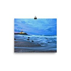 Photo paper poster with Montauk lighthouse on Long Island New York.