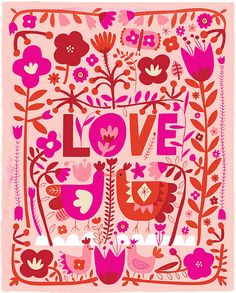 Love. Love is all you need! PRINT • paper size 8.5 x 11 • artwork size 8X10 with a white border • printed on heavy 80lb. Cardstock. https://www.etsy.com/ca/shop/CarolynGavinShop