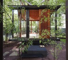 Floating Japanese Tea House Talk about Feng shui! American architect David Jameson built this amazingly tranquil floating tea house, which also functions as a dining room, meditation Japanese Tea House, Japanese Style, Traditional Japanese, Meditation Rooms, Zen Meditation, Design Jardin, Japanese Architecture, Futuristic Architecture, House Architecture