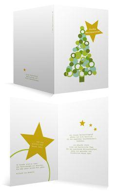 Weihnachtskarten für Firmen - innen individuell bedruckt - hinten mit eigenem Logo