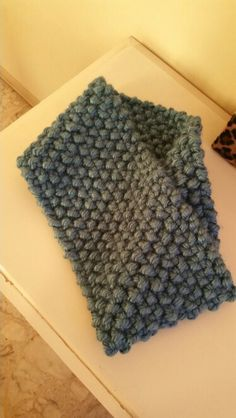 My very cold go blue scarf