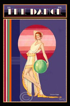 Whimsical Art Deco Dance Cover The Dance by DragonflyMeadowsArt, $25.00