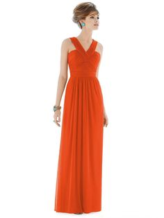 Alfred Sung Tangerine Tango 2015 Plus Size Bridesmaids Dresses Cheap Halter Chiffon Orange Long Backless Formal Party Prom Gowns Dessy D678 Burnt Orange Bridesmaid Dresses Camo Bridesmaid Dresses From Faithfully, $65.33| Dhgate.Com