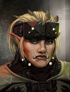 female troll portrait - Google Search Shadowrun Dragonfall c53e95cfb8