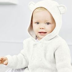 Bear Ears Cardigan - Ecru from The White Company