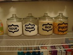 Pantry Jars - much easier than any others I've seen.