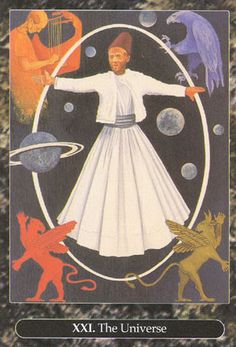 XXI. The World - Universal Tarot by Maxwell Miller