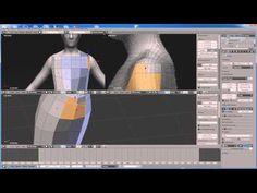 blender 2.64 character modeling tutorial part 1 - YouTube