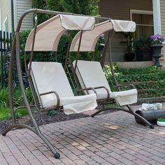 small round patio 24-min Swing Design, Canopy Design, Patio Design, Garden Design, Outdoor Seating, Outdoor Chairs, Outdoor Decor, Outdoor Spaces, Patio Swing