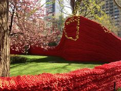 Breathtaking art installation at Madison Square Park!