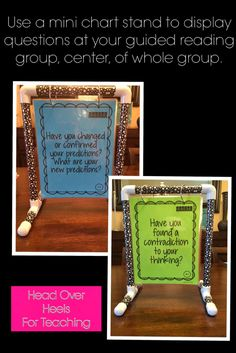 Build this mini anchor chart holder for guided reading groups, center, or partner work!