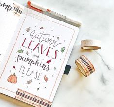 This collection of darling fall themed bullet journal pages includes spreads, calendar, and weekly Autumn Bullet Journal, Bullet Journal Quotes, Bullet Journal Ideas Pages, Bullet Journal Layout, Bullet Journal Inspiration, Journal Pages, Bullet Journals, Journal Art, Art Journals