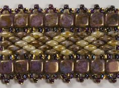 Variations of a Pattern      I've adapted Deborah Roberti's Tila SuperDuo Bands  pattern to work with the new CzechMates Tile beads.        ...