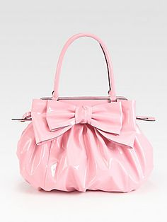 This Valentino Lacca Patent Leather Top Handle Bag is really cute, too bad  it costs $1295.00.