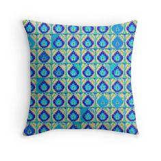 Blue Teardrops Pattern   saundramylesart